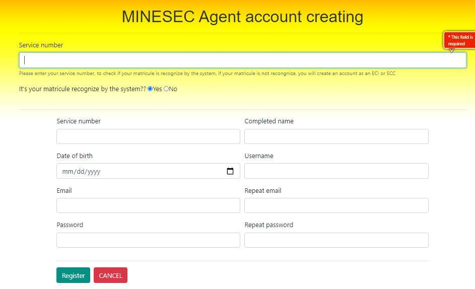 minesec drh online census 2020 of personnel physical headcount staff form