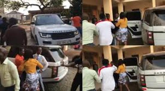 Church members beat up Pastor for buying a luxury range-rover with tithe money